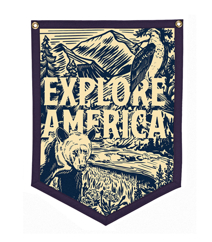 Explore America Camp Flag