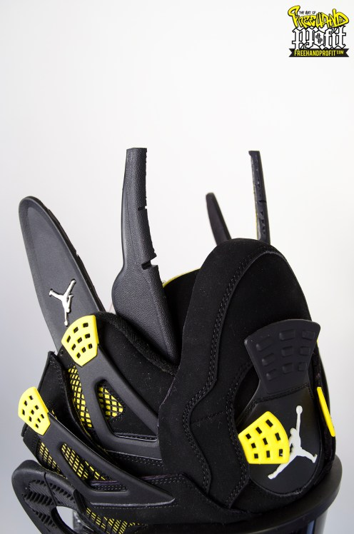 "Air Jordan ""Thunder IVs"" Gas Mask by Freehand Profit"