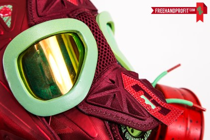 "Nike Lebron X (10) ""Christmas"" Gas Mask by Freehand Profit"