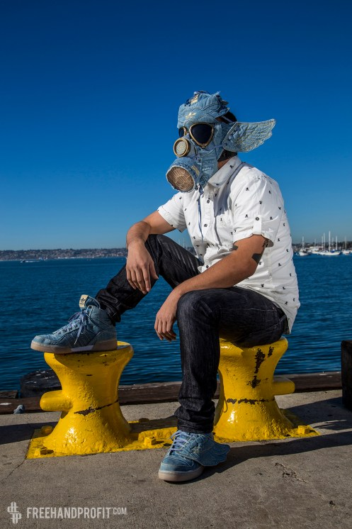 Adidas x Jeremy Scott Denim Wings Gas Mask