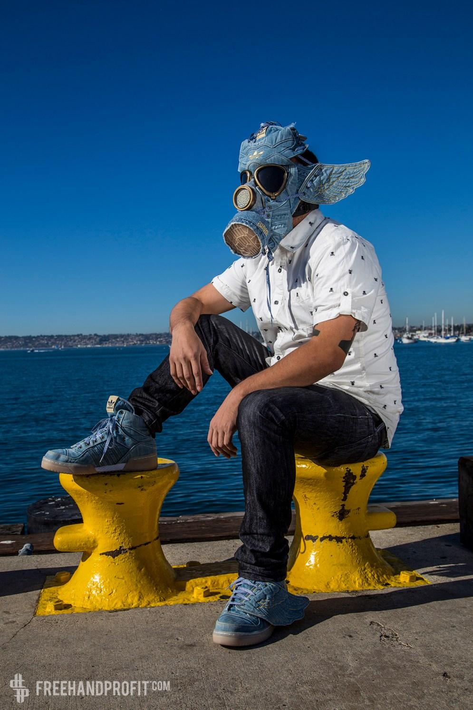 Adidas x Jeremy Scott Denim Wings Gas Mask