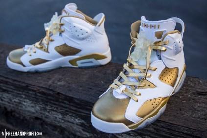 "Custom Air Jordans ""Midas 6s"" by Freehand Profit"