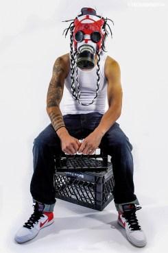 """""""Cheech & Chong"""" Nike SB Dunk Gas Mask by Freehand Profit"""
