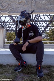 The 99th sneaker mask created by Freehand Profit. Made from 1 pair of Atmos Air Max 90s and featuring a resin cast saber tooth tiger skull. Find out more about the work on FREEHANDPROFIT.com.