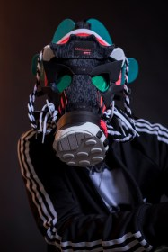 The 132nd sneaker mask created by Freehand Profit. Made from 1 pair of adidas EQT Support ADV. Find out more about the work on FREEHANDPROFIT.com. On display at adidas SOHO 3/2017!