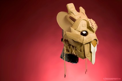 The 145th sneaker mask created by Freehand Profit. Made from 1 pair of Nike All Star 2017 Air Zoom Generation. Find out more about the work on FREEHANDPROFIT.com.