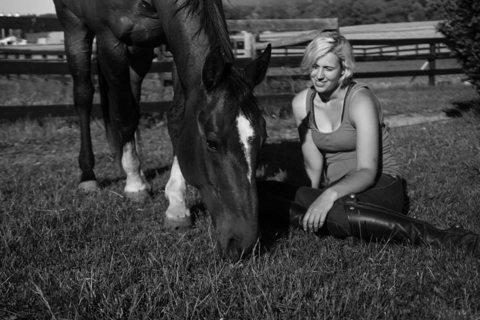 Sitting in Grass with Horse