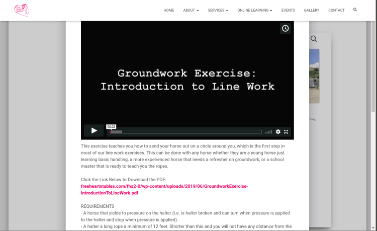 Exercises Page - Play Video