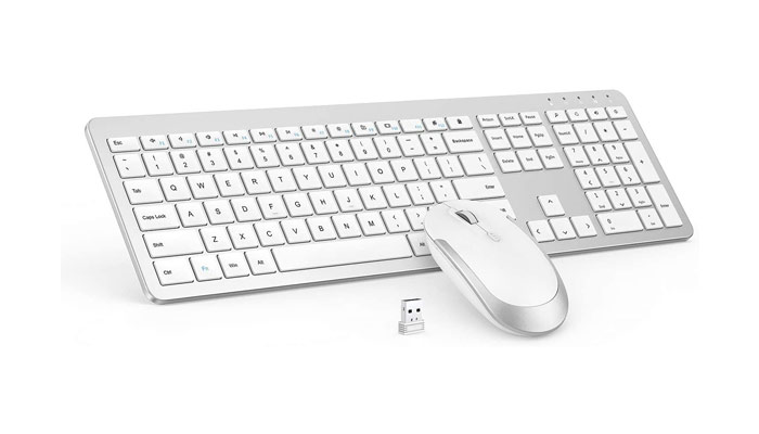 Seenda Full Size Slim Thin Keyboard and Mouse Combo