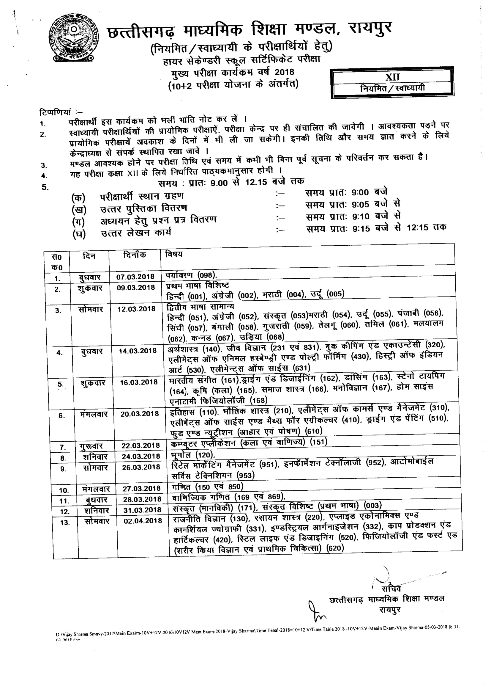 Cgbse 12th time table 2018 cg 12th 2018 exam date pdf cgbse 12th time table 2018 cg 12th 2018 exam date pdf chhattisgarh 12th date sheet 2018 malvernweather Choice Image