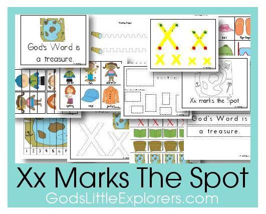 Free Preschool Printables: X Marks The Spot