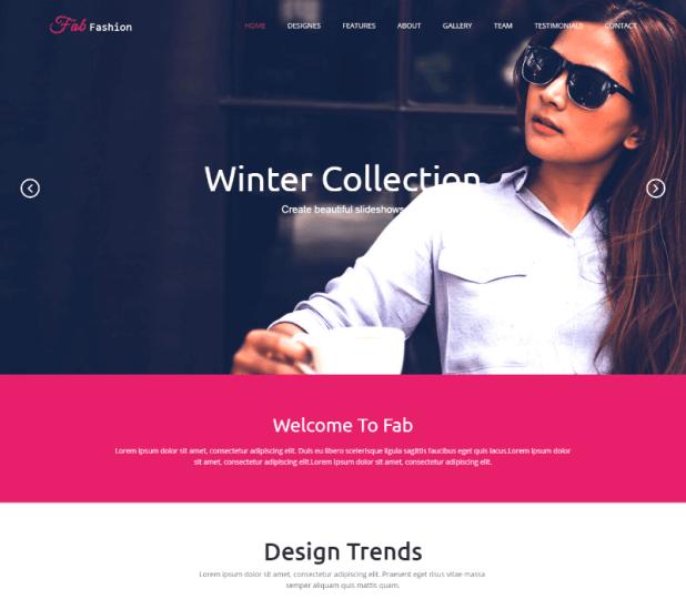 Fab Fashion Responsive HTML5 Web Template