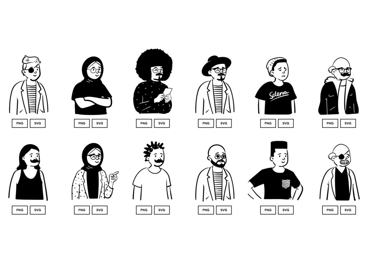 Open Peeps illustrations