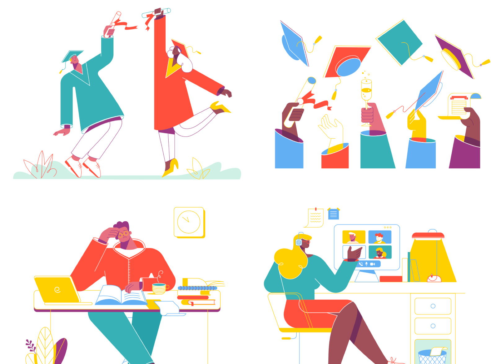 Education & Online Learning Illustrations
