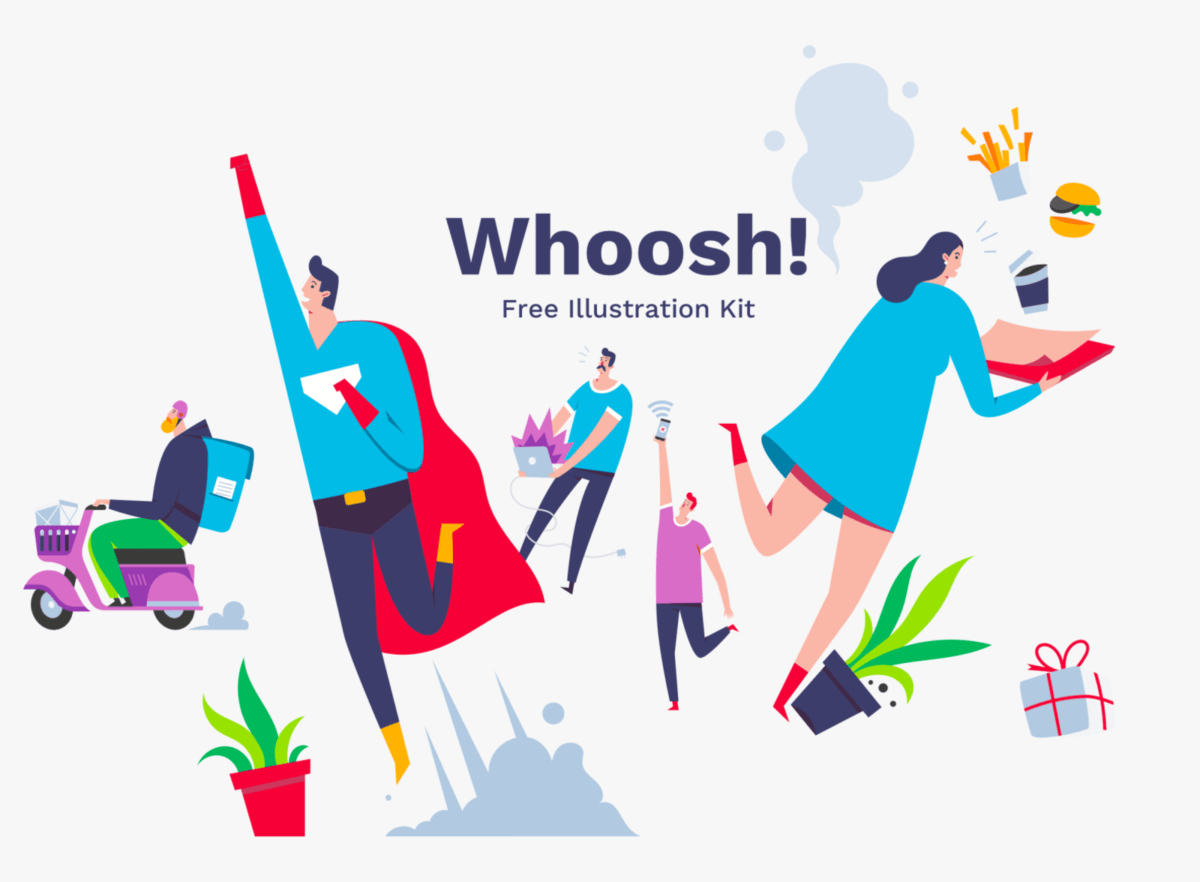 Whoosh illustrations