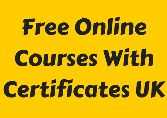 Free Online Courses With Certificates UK
