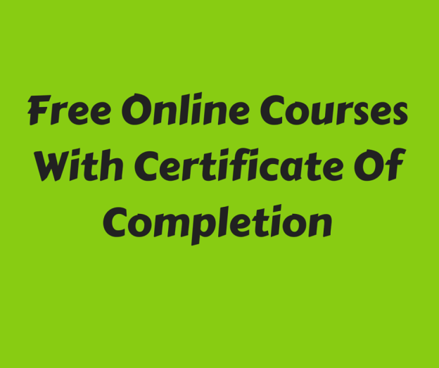 Where To Get Free Online Courses With Certificate Of