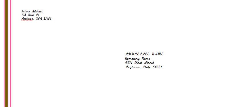 Envelope For Resume pink envelope template for pages free iwork – Sample Business Envelope Template