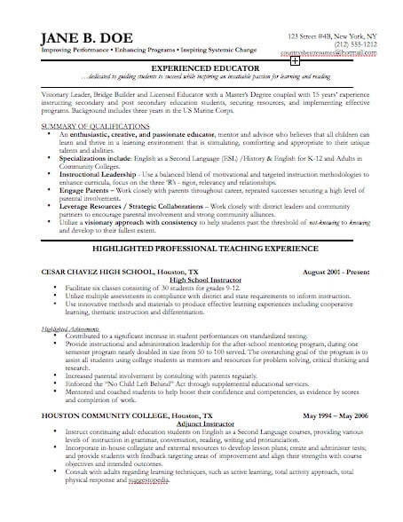 resume example for it professional resume examples it professional