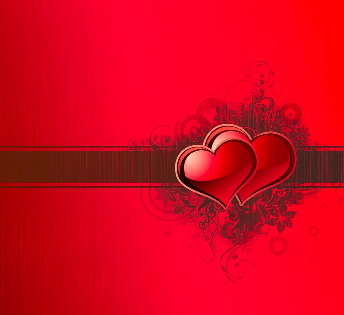 two hearts valentines day presentation template free iwork templates
