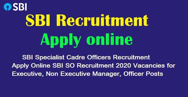 SBI SCO Recruitment 2021 Specialist Cadre Officers 454