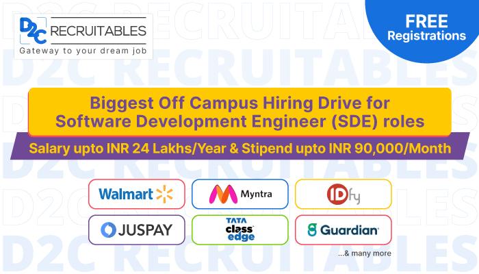 Off campus Dare2compete free job Search