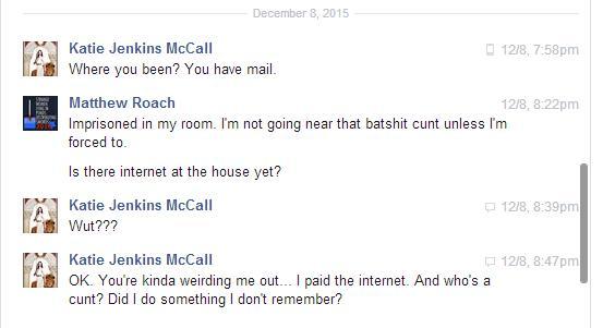 Facebook screenshot from Matt shared by Katie 1