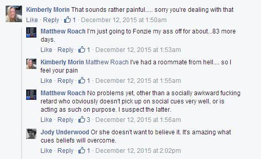 Facebook screenshot from Matt shared by Katie 7