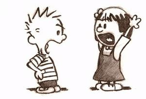 Calvin and Susie Arguing