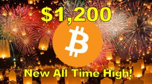 Bitcoin Hits All Time High  of $1200!