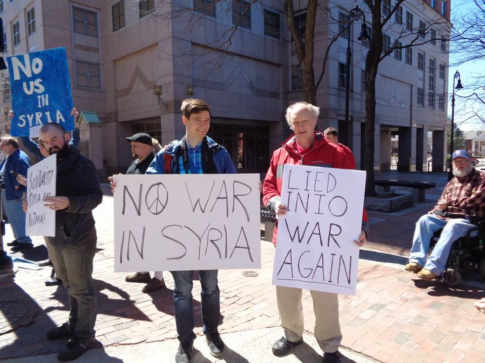 Protesting US Attacks on Syria