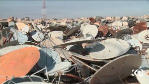 Satellite Dish Graveyard in Mosul, Iraq