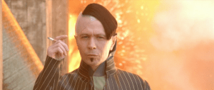 """Yes, Zorg coolly walks away from an explosion while smoking.  Valerian's """"commander"""" cowardly orders another man to press a button destroying an entire planet.  No contest who is the badder-ass."""