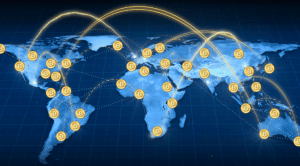 Bitcoin is a decentralized currency that transcends national borders.