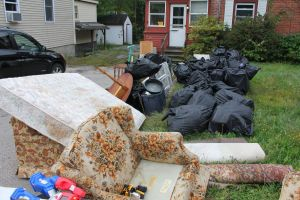 Multiple full truckloads of garbage and junk were removed this week, totaling hundreds of dollars in dump fees.