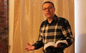 Dr. Ahmad Alabaddi delivers the inaugural khutbah (sermon) at the MALIC Center.
