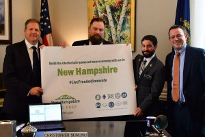 Governor Chris Sununu Commemorates Signing the Crypto Protection Bill with Liberty-Friendly State Reps in 2017.