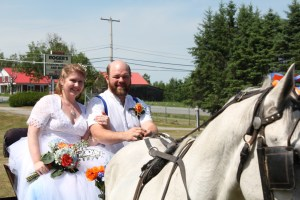 Shalon and Jay Noone, shortly after getting married - the first ever at Forkfest.
