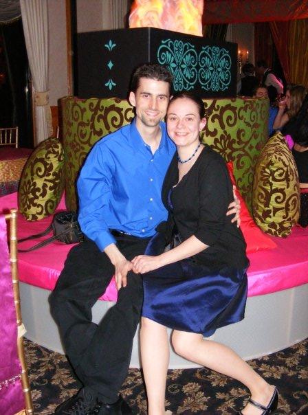 Julia and I at a Panera Christmas party more than a decade ago.