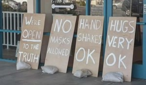 We need more businesses like this - no masks allowed