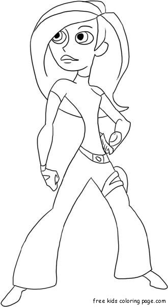 Print Out Kim Possible And Shego Online Coloring GameFree
