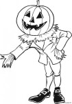Printable Halloween Coloring page pumpkin man