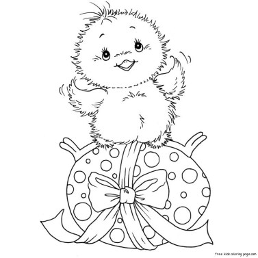 Cute easter chicken coloring in pages to print out.