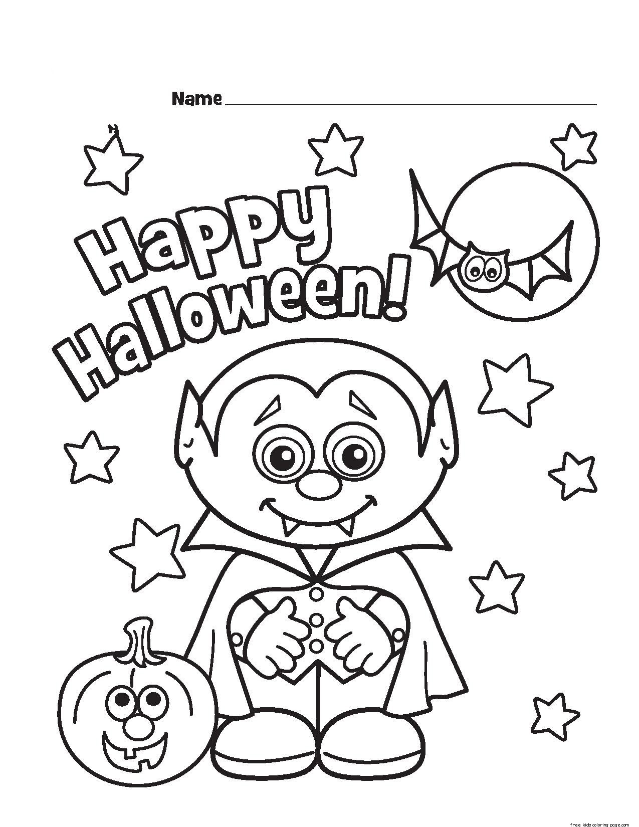 Halloween Little V Ire Printable Coloring Pages For Kidsfree