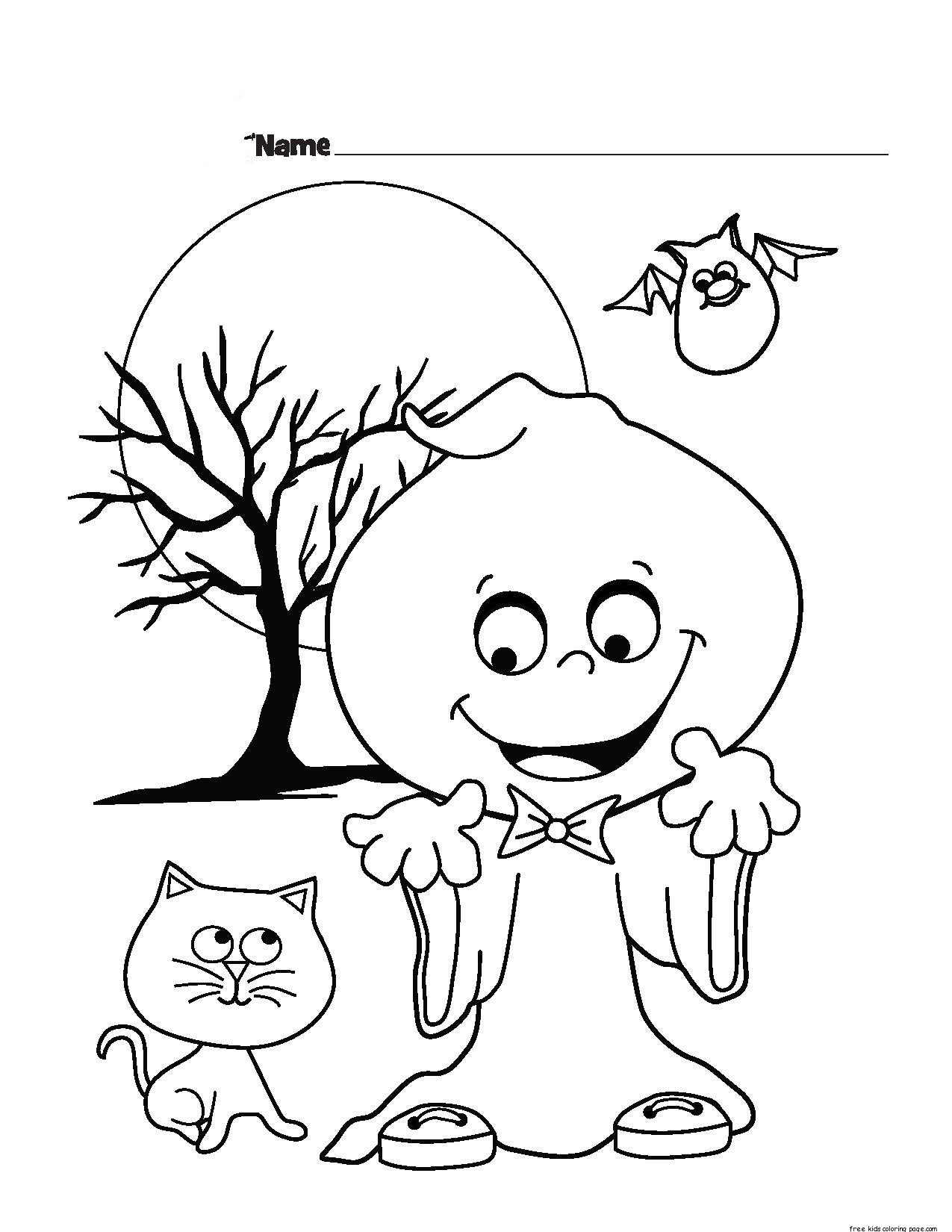 Halloween Ghost Printable Coloring Pages For Kidsfree Printable Coloring Pages For Kids