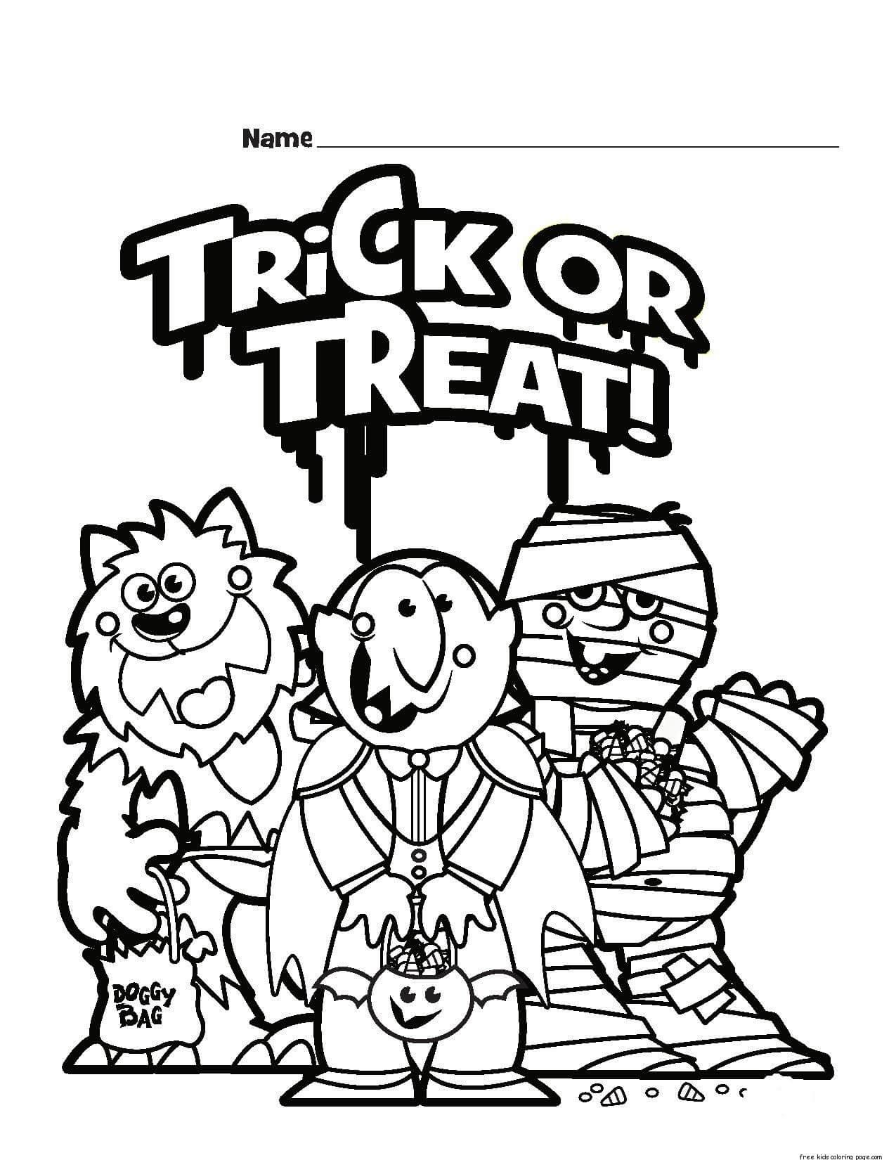 Halloween Worksheet Coloring Page