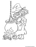Halloween witches coloring pages to print out