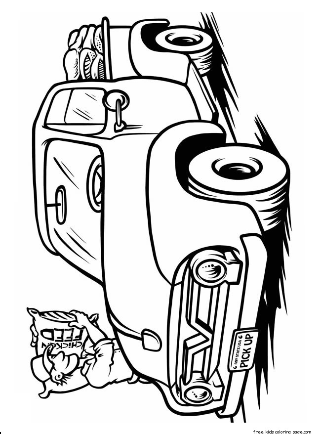 Print Out Cars 2 Movie Luigi Coloring Page Free