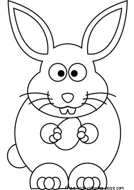 Free Printable Easter Bunny Coloring Sheets For KidsFree