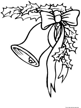 Free coloring pages of christmas bells f
